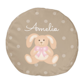 Cute Baby Bunny Rabbit Sweet Girls Nursery Room Pouf