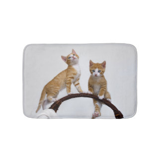 Cute Baby Cats Kittens Funny Gym Photo - Small Bathroom Mat