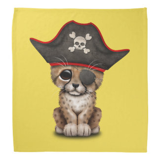 Cute Baby Cheetah Cub Pirate Bandana