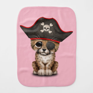 Cute Baby Cheetah Cub Pirate Burp Cloth