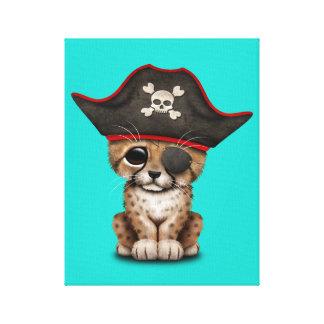 Cute Baby Cheetah Cub Pirate Canvas Print