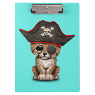 Cute Baby Cheetah Cub Pirate Clipboard