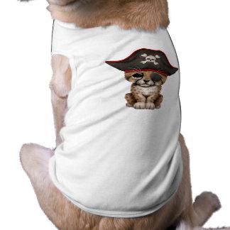 Cute Baby Cheetah Cub Pirate Dog T Shirt