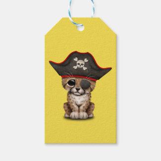 Cute Baby Cheetah Cub Pirate Gift Tags