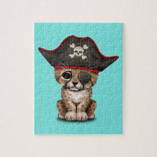 Cute Baby Cheetah Cub Pirate Jigsaw Puzzle