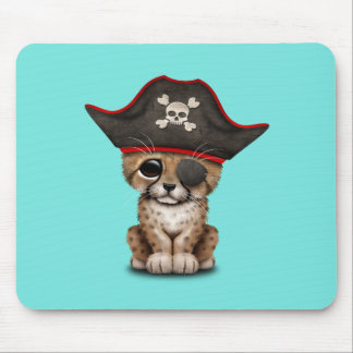 Cute Baby Cheetah Cub Pirate Mouse Pad