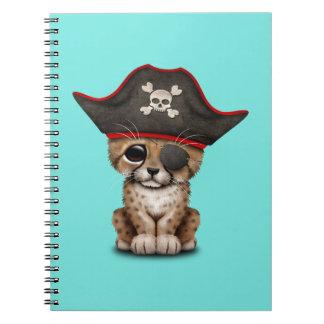 Cute Baby Cheetah Cub Pirate Notebook