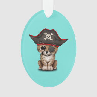 Cute Baby Cheetah Cub Pirate Ornament