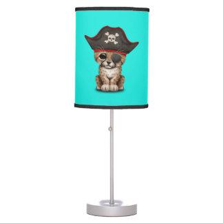 Cute Baby Cheetah Cub Pirate Table Lamp
