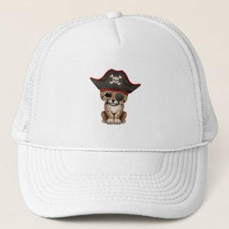 Cute Baby Cheetah Cub Pirate Trucker Hat