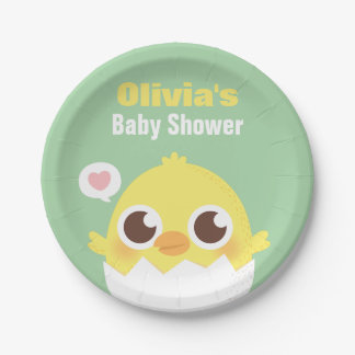 Cute Baby Chick About to Hatch Party Supplies 7 Inch Paper Plate