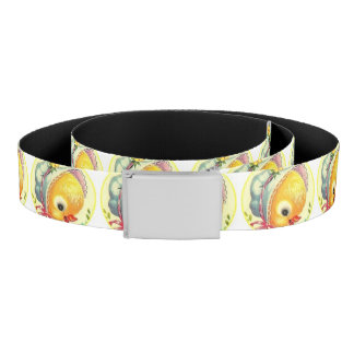 Cute Baby Chick Reversible Canvas Belt