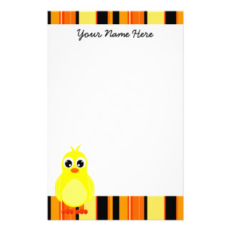 Cute Baby Chick Stationery
