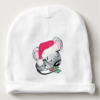 Cute Baby Christmas Mouse Baby Beanie