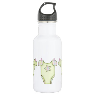 Cute Baby Clothesline Green 532 Ml Water Bottle