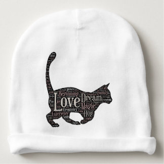 Cute Baby Cotton Beanie with black cat Baby Beanie