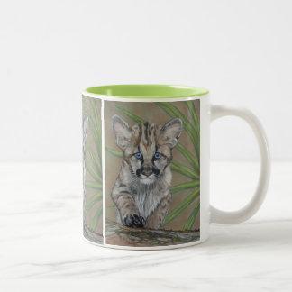 cute baby cougar big cat wildlife realist art mug