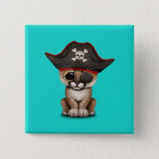 Cute Baby Cougar Cub Pirate 2 Inch Square Button