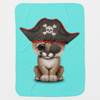 Cute Baby Cougar Cub Pirate Baby Blanket