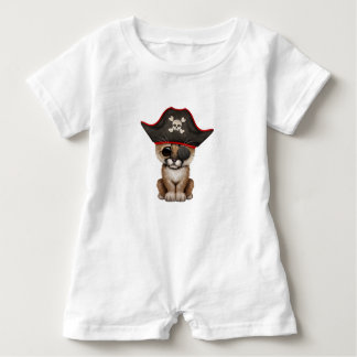 Cute Baby Cougar Cub Pirate Baby Romper