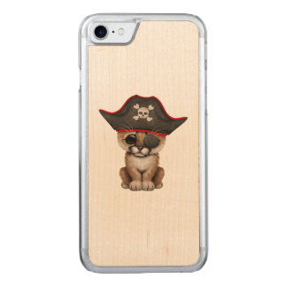 Cute Baby Cougar Cub Pirate Carved iPhone 8/7 Case
