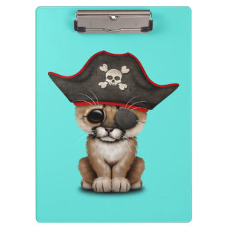 Cute Baby Cougar Cub Pirate Clipboard