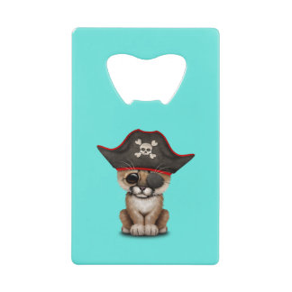 Cute Baby Cougar Cub Pirate Credit Card Bottle Opener