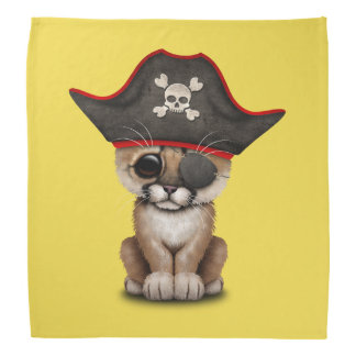 Cute Baby Cougar Cub Pirate Head Kerchief