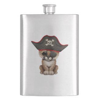 Cute Baby Cougar Cub Pirate Hip Flask