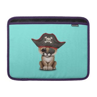 Cute Baby Cougar Cub Pirate MacBook Sleeve