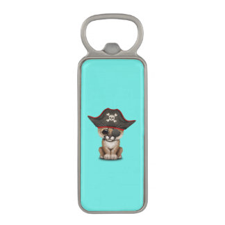 Cute Baby Cougar Cub Pirate Magnetic Bottle Opener
