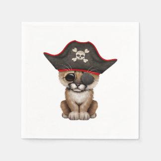 Cute Baby Cougar Cub Pirate Napkin