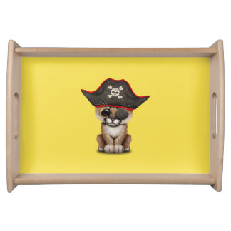 Cute Baby Cougar Cub Pirate Serving Tray