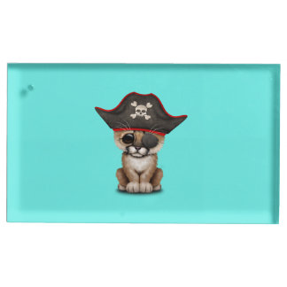 Cute Baby Cougar Cub Pirate Table Card Holder