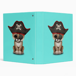 Cute Baby Cougar Cub Pirate Vinyl Binder