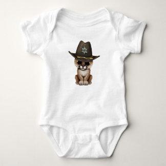 Cute Baby Cougar Cub Sheriff Baby Bodysuit