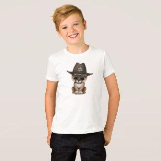 Cute Baby Cougar Cub Sheriff T-Shirt