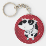 Cute Baby Cow Basic Round Button Keychain