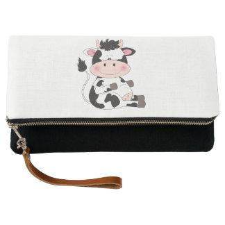 Cute Baby Cow Cartoon Clutch