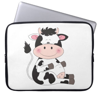 Cute Baby Cow Cartoon Computer Sleeves