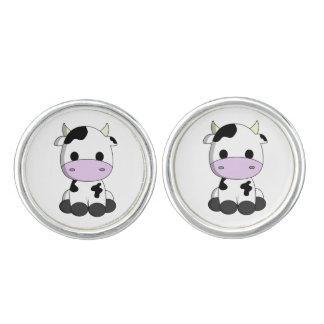 Cute baby cow cartoon cuff links