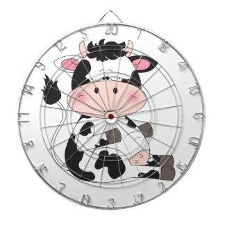 Cute Baby Cow Cartoon Dartboards