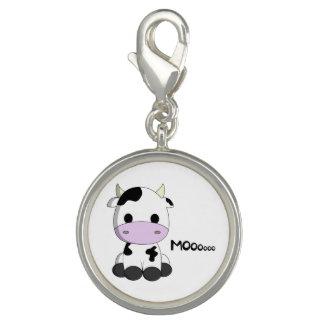 Cute baby cow cartoon photo charm