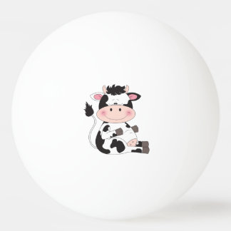 Cute Baby Cow Cartoon Ping Pong Ball