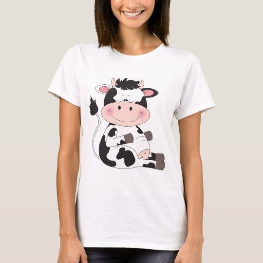 Cute Baby Cow Cartoon T-Shirt
