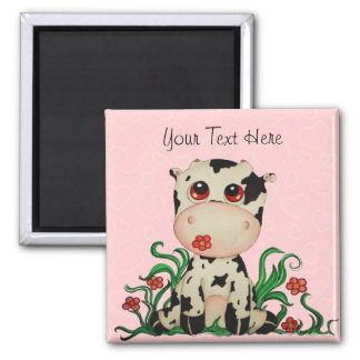 Cute Baby Cow Customizable Magnet