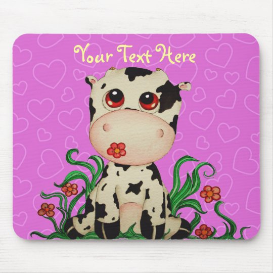 Cute Baby Cow Customizable Mousepad