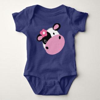 Cute Baby Cow Jersey Bodysuit