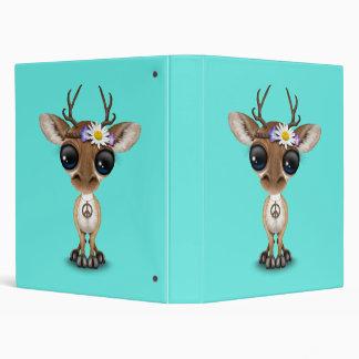 Cute Baby Deer Hippie 3 Ring Binders