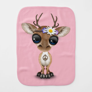Cute Baby Deer Hippie Burp Cloth